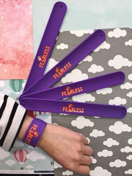 Custom Solid Printed Slap Bands