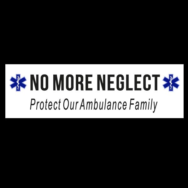 Blue Star of Life No More Neglect Car Bumper Sticker
